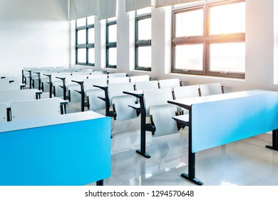 Empty college lecture classroom in university