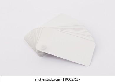 Empty Color Palette guide, small white colour chart