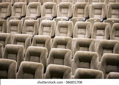 Empty comfortable seats in theater, cinema