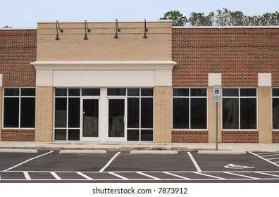 An empty commercial building ready for occupancy.