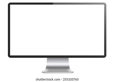 Empty Computer Display Isolated on White Background with Clipping Path - high resolution