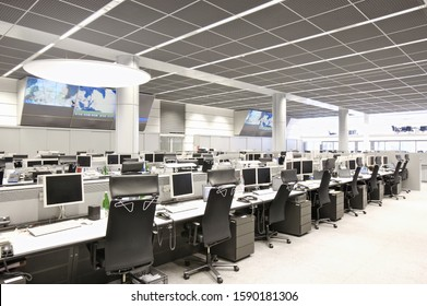 Empty computer terminals at stock market