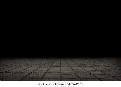 Empty Concrete Floor on Dark Background