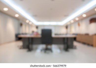 Empty conference room blur background