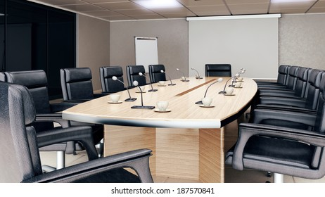 Empty conference room interior