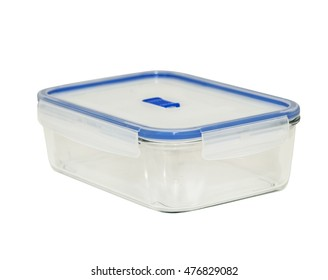 Empty container for food isolated on white background