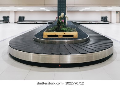 empty conveyor belt for carrying the passenger luggage at airport