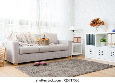 empty copy space autumn decoration living room with nobody no people for copy space background