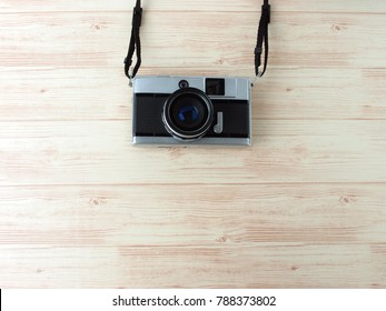 Empty copy space on classic natural wood background decorate with vintage hipster theme