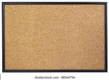 Empty cork board.