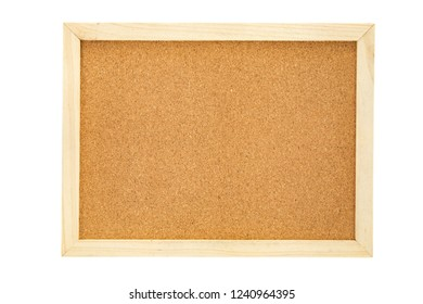 empty cork pin board isolated on white background