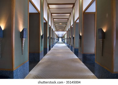 empty corridor in  hotel