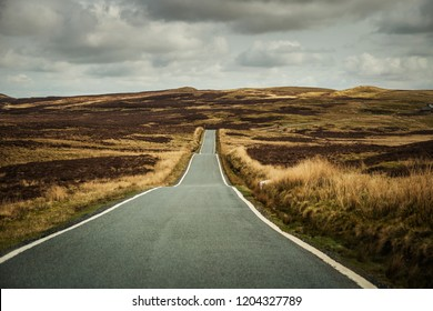 empty country road in wales