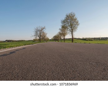 empty countryside rural road in spring season background