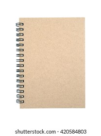 Empty cover notebook isolated on white background. with clipping path.