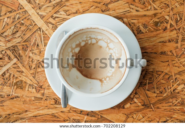 Empty cup of coffee.
