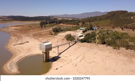 Empty dam near Cape Town, South Africa