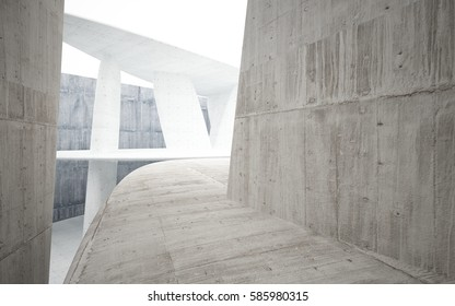 Empty dark abstract concrete smooth interior. Architectural background. 3D illustration and rendering