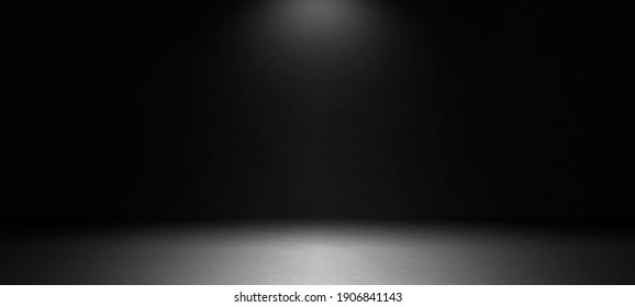 Empty dark abstract room of white marble flooring with for interior decoration used as studio background wall to display your products.