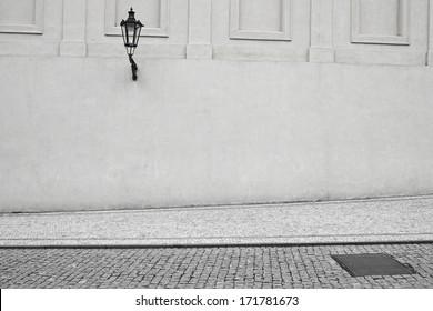 Empty, deserted street