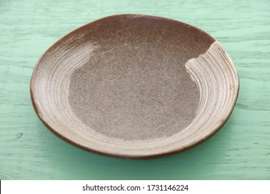 empty dish on a dining table