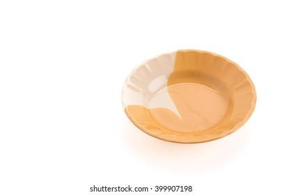 empty dish on white background