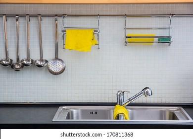 Empty dishwasher at the kitchen