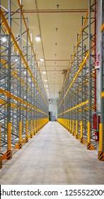 Empty distribution Warehouse