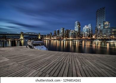 empty dock at granvile island, vancouver,canada.