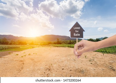 Empty dry cracked swamp reclamation soil, land plot for housing construction project with car tire print in rural area and beautiful blue sky with fresh air Land for sales landscape concept - Shutterstock ID 1473200264