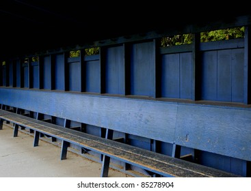 A empty dugout at the end of the season