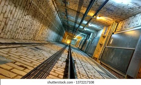 Empty elevator shaft