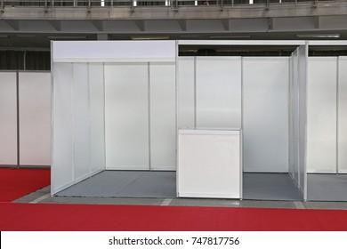 Empty Exibition Trade Fair Stand