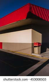 An empty fast food restaurant drive through