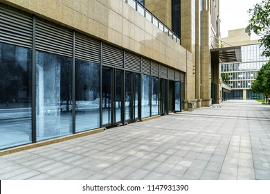 Empty floor and Windows of Skyscraper Business Office in chongqing,china