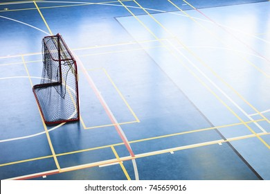 Empty Floorball goal