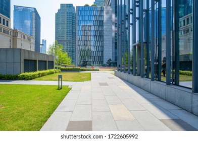 Empty floors and office buildings in financial center, Chongqing, China