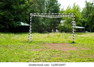 Empty football goal