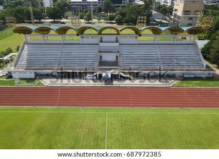 Empty of football stadium
