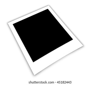 empty frame isolated on white background