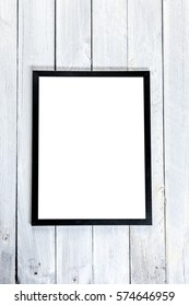 Empty frame on wall, where you can place your own text
