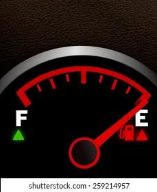 Empty fuel meter