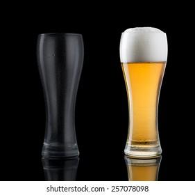 Empty full glass