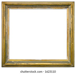 Empty gilded picture frame