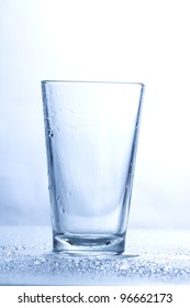Empty glass for drinking water.
