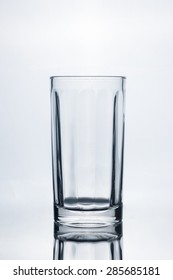 empty glass isolate on white background
