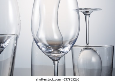 empty glass isolate on white
