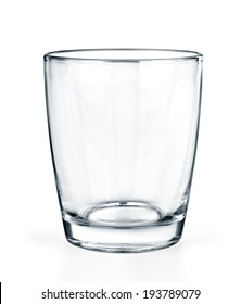 Empty glass isolated on white background.