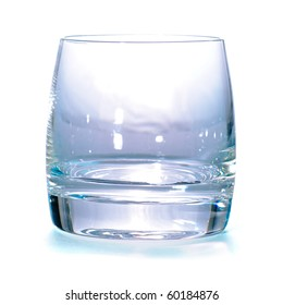 Empty glass isolated on white background with shadow