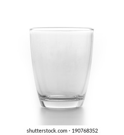 Empty glass isolated white background
